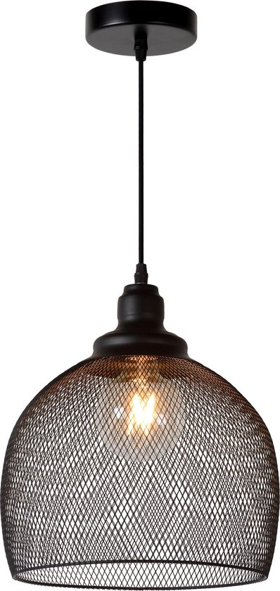 Lucide MESH Hanglamp - Ø 28 cm - E27 - Zwart