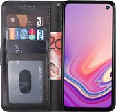 samsung s10 hoesje bookcase zwart - Samsung galaxy s10 hoesje bookcase zwart wallet case portemonnee book case hoes cover hoesjes