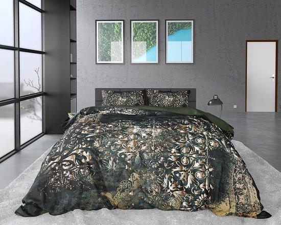 Dreamhouse Satijn Nairobi - Dekbedovertrekset - Lits-Jumeaux - 240x200/220 + 2 kussenslopen 60x70 - Groen