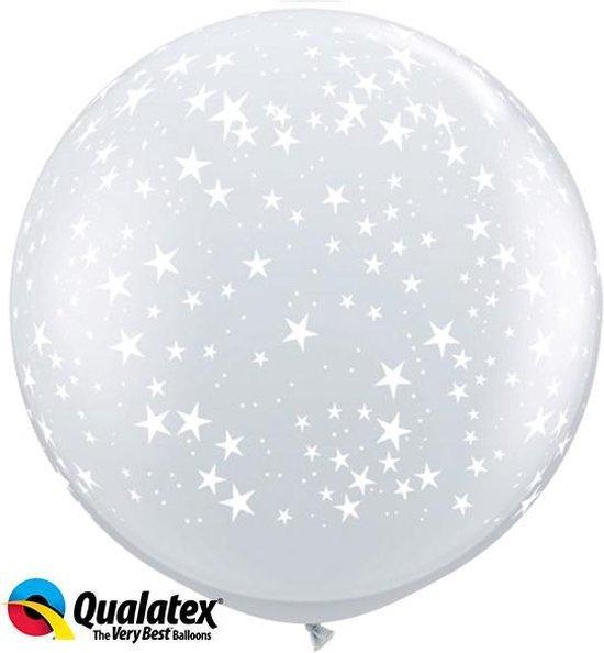 Ballonnen opdruk kleine sterren (2 stuks)