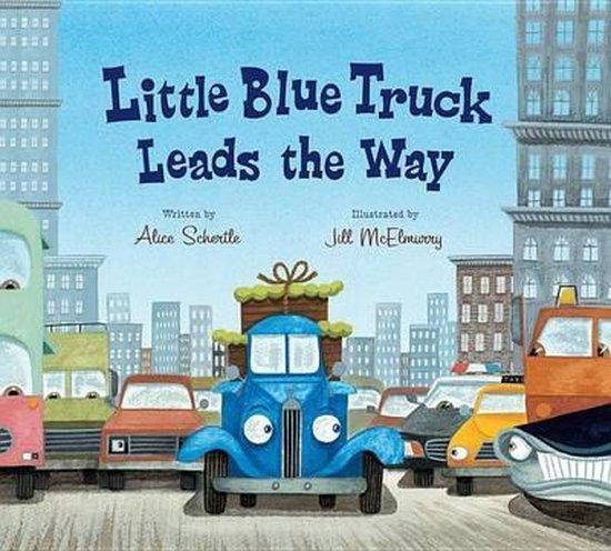 Boek cover Little Blue Truck Leads the Way (Lap Board Book) van Alice Schertle (Hardcover)