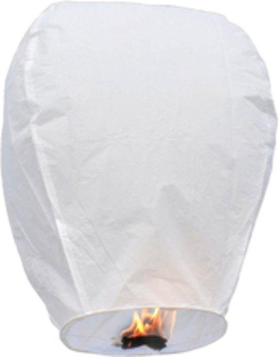 10x Wensballon Wit