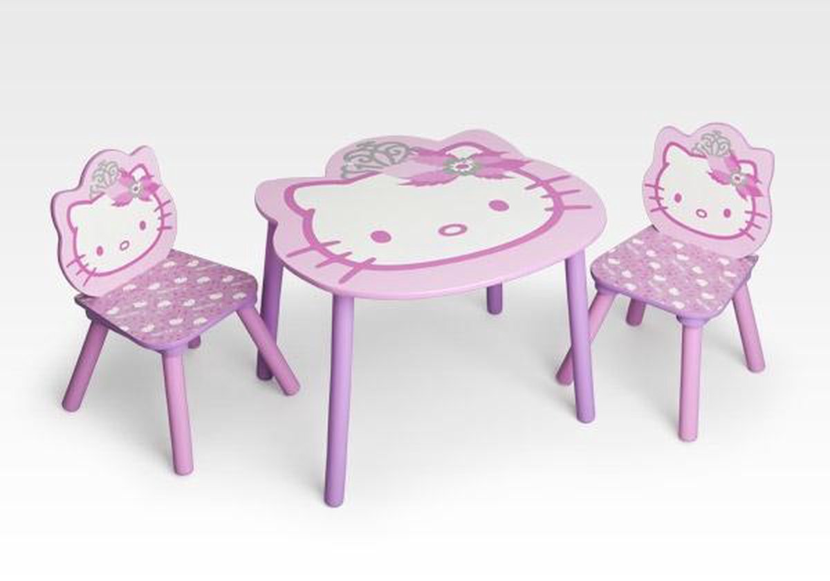 Hello Kitty TT89449HK Tafel met 2 Stoelen | ShopSpeelgoed.nl