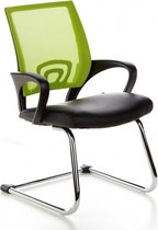 hjh office Visto Net V - Bureaustoel - Vergaderstoel - Netstof - Zwart / groen chroom