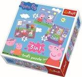 3 in 1 - Spelen op school / Peppa Pig Puzzel
