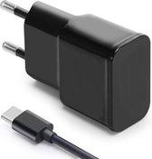 OLESIT 5V 2A 10W. 1 poort USB Oplader UNS-1538 + 1 Meter TYPE-C Kabel Zwart – Geschikt voor Samsung Modellen