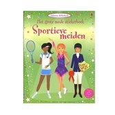 Usborne stickerboek het grote mode stickerboek - sportieve meiden