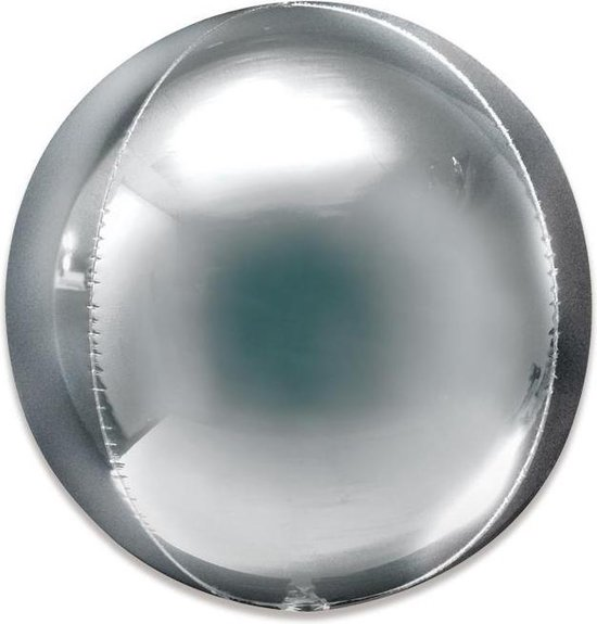 Orbz Jumbo Silver Foil Balloon P55 Packaged 53cm x 53cm
