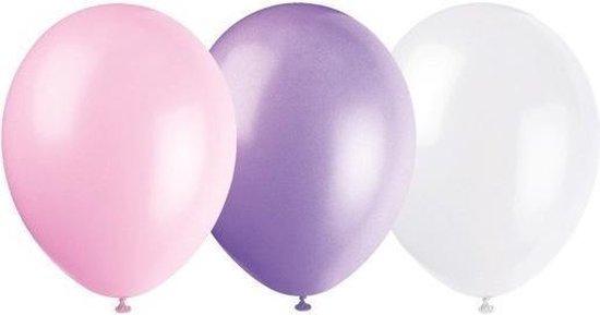 Amscan Ballonnen Pearl Roze/wit/paars 10 Stuks 27,5 Cm