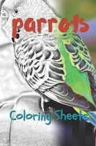 Parrot Coloring Sheets