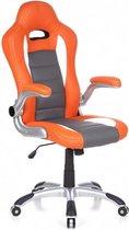 hjh office Racer Sport - Bureaustoel - Gamingstoel - Oranje / wit
