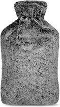 Premium Warmwaterkruik, 2 Liter – met Ultra Zachte Imitatie Pels Hoes – Lekvrij, Vervaardigd uit Kwaliteitsmateriaal & Rubber – Blijft Urenlang Warm – Draagbare Verwarming & Warme Kompres voor Winterse Vriesnachten