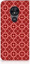 Motorola Moto G7 Power Uniek Standcase Hoesje Batik Red