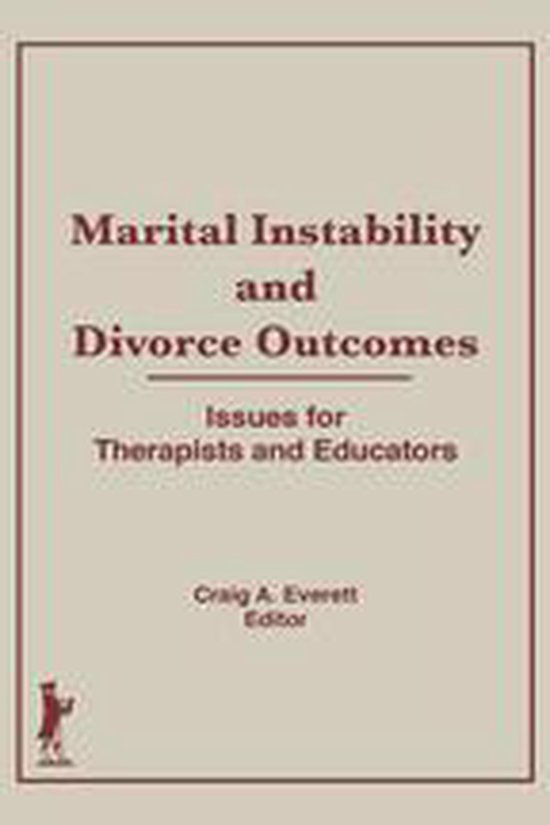 Boek cover Marital Instability and Divorce Outcomes van Craig Everett (Onbekend)