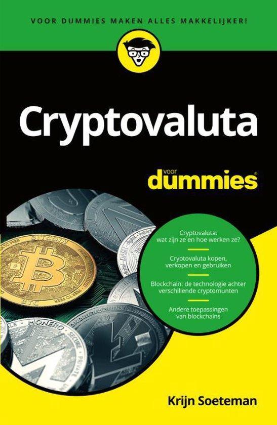 Boek cover Cryptovaluta voor Dummies van Krijn Soeteman (Paperback)