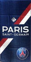 PSG Handdoek - Streep - 70 x 140 cm - Blauw - Paris Saint Germain