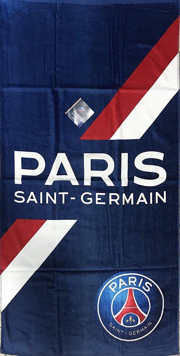 PSG Handdoek - Streep - 70 x 140 cm - Blauw - Paris Saint Germain - PSG