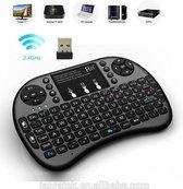 Saizi  mini i8+ backlight wireless mediacenter toetsenbord met Multi-Touch muis - Zwart - QWERTY voor o.a. Raspberry Pi, Console, Smart TV. Draadloos keyboard