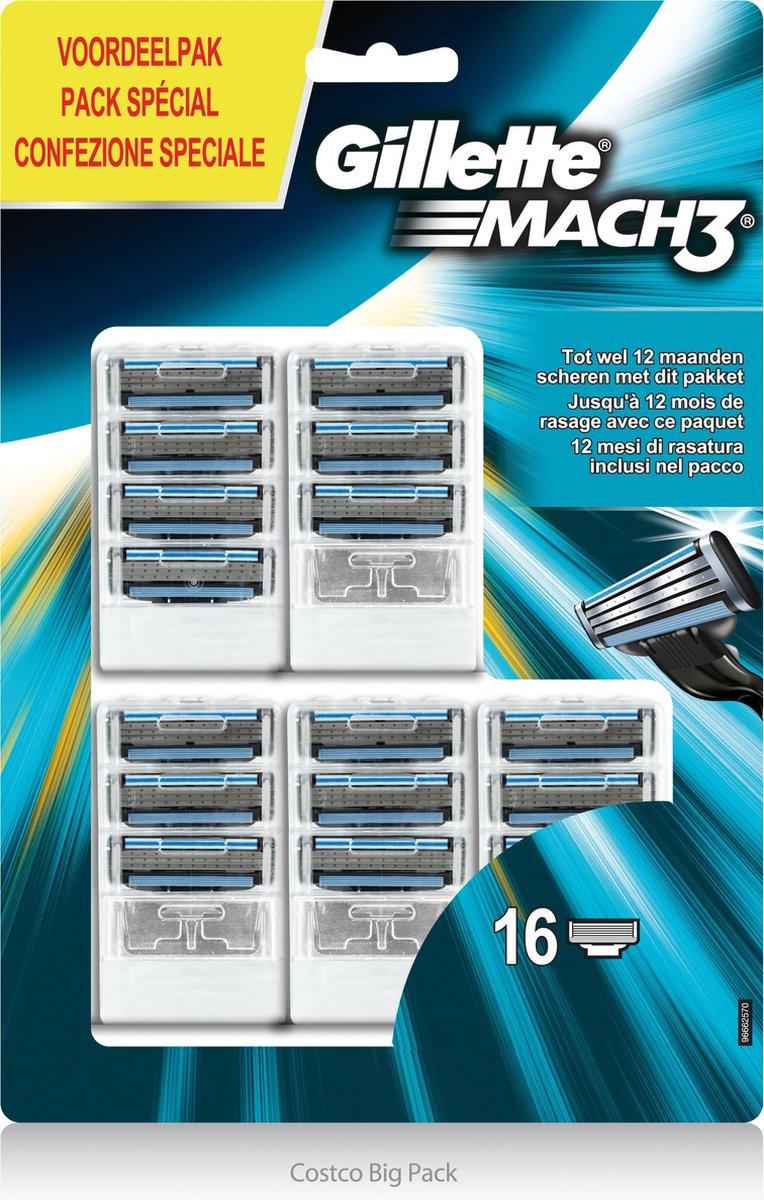 Gillette Mach3-16 stuks-scheermesjes