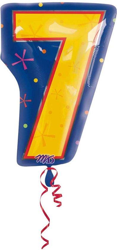 7 jaar cijferballon - 46 cm
