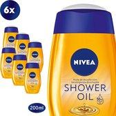 NIVEA Natural Oil Doucheolie - 6 x 200 ml - Voordeelverpakking