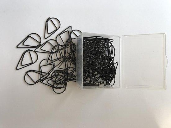 Paperclips Druppel Zwart -2,5 cm - 50 stuks