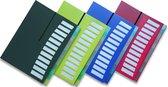 """EXXO-HFP #40246 - A4 """"Hand-out""""- Huiswerk- Projectmap - 12 tassen/tabs - Robijn rood - 1 stuks"""