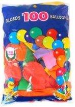 Helium ballonnen 100 stuks assortie kleuren nr 10