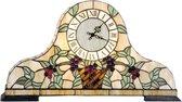 Tiffany klok compleet 31 x 55 cm 2x E14 max 15w