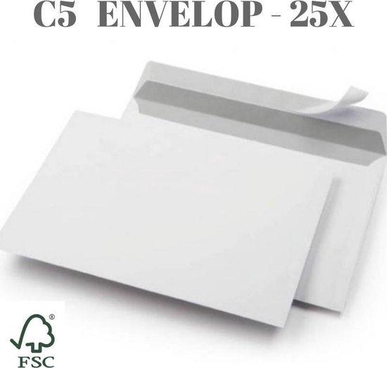 Afbeelding van Envelop wit zelfklevend - C5 - 162 x 229 mm - 25 stuks speelgoed