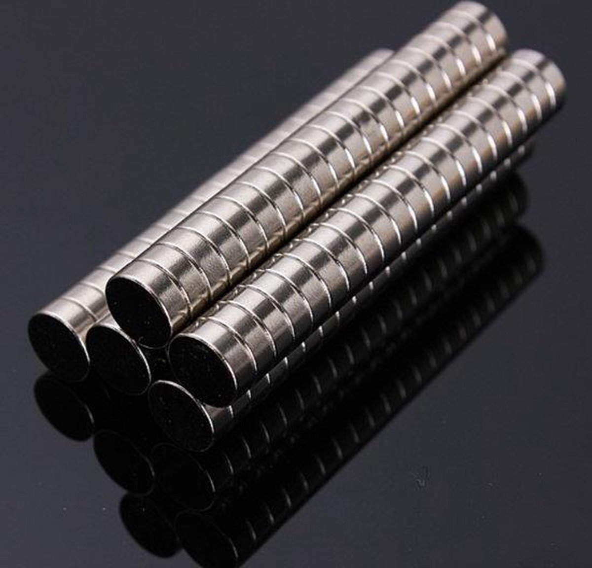 Super sterke magneten - Neodymium - Rond - 5 x 3 mm - 20 Stuks - Zilver