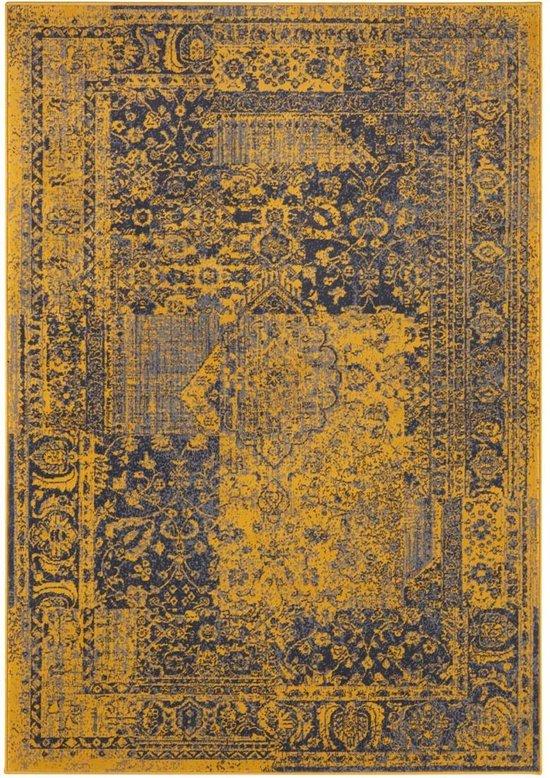 Vintage vloerkleed Plume - goud/grijs 200x290 cm