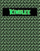 120 Page Handwriting Practice Book with Green Alien Cover Kinslee