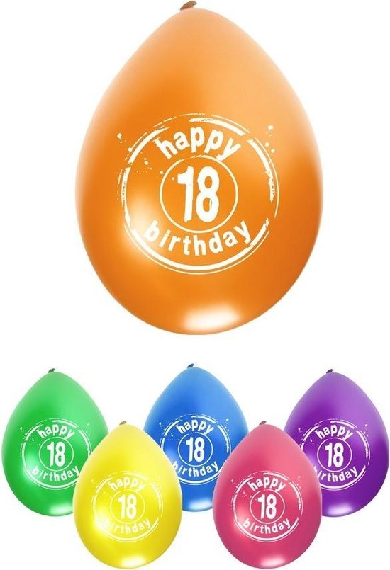Leeftijdballon 18 jaar