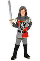 LUCIDA - Middeleeuwse ridder outfit voor jongens - S 110/122 (4-6 jaar) - Kinderkostuums
