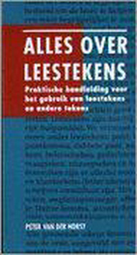 Alles Over Leestekens - P.J. van der Horst  