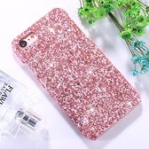 Let op type!! For iPhone 8 & 7 Colorful Sequins Paste Protective Back Cover Case (Pink)