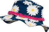 Playshoes - UV-zonnehoed voor meisjes - Margriet - Blauw / roze / wit