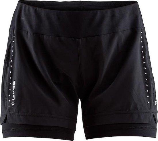 Craft Essential 2-In-1 Shorts W Sportbroek Dames - Black