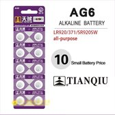 10 Stuks SR920SW Horloge Batterijen | AG6