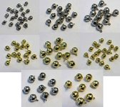 112 Sieraad Belletjes - Goud en Zilverkleurig - 6 t/m 12mm