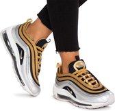 NIKE AIR MAX 97 SE - Sneakers laag - Zilver/Zwart/Goud -Damesschoen - Maat: 37.5