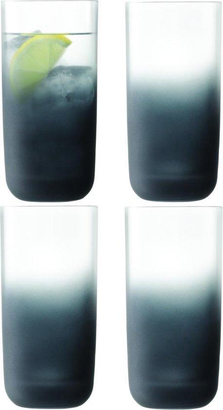 L.S.A. Haze Longdrink Glazen - Set van 4 Stuks - 400 ml - Grijs