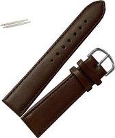 Fako Bijoux® - Horlogebandje - Echt Leer - 20mm - Bruin