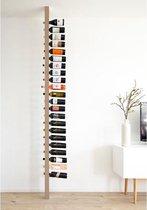 Wijnpaal Clean - Houten wijnrek voor 20 wijnflessen met een uniek en modern design