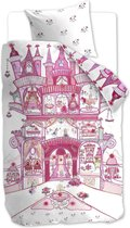 Beddinghouse Kids Fairy Palace - kinderdekbedovertrek - Eenpersoons - 140x200/220 cm - Roze