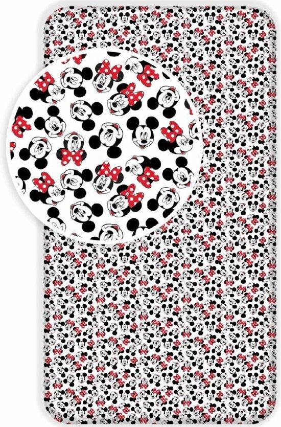 Disney Minnie Mouse Londen - Hoeslaken - Eenpersoons - 90 x 200 cm - Multi