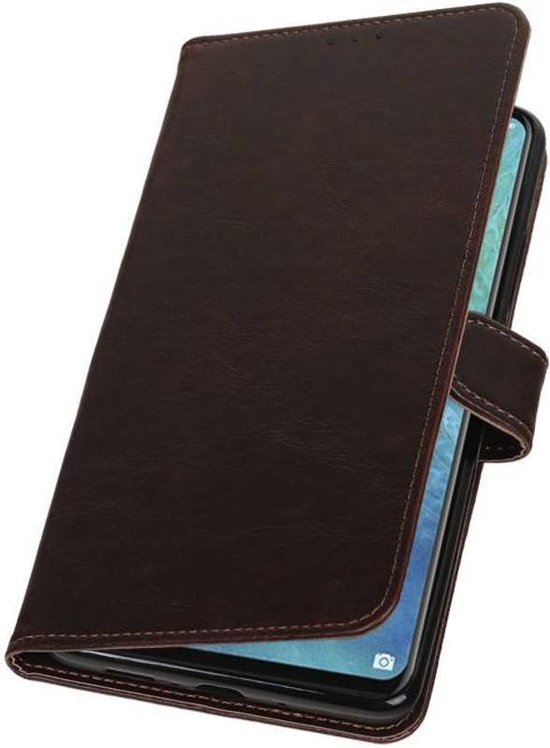 Mocca Pull-Up Booktype Hoesje voor Huawei Mate 20 X