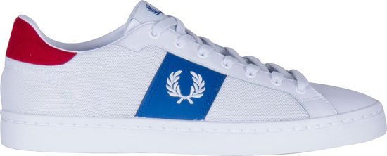 Fred Perry Fred Perry Lawn Sneakers - Maat 42 - Mannen - wit/blauw/rood