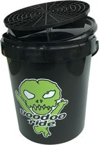 Voodoo Ride Emmer Met Deksel En Grid 15 Liter Zwart/groen
